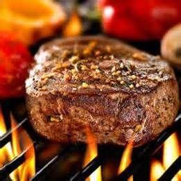 Steak op barbecue. Besteld bij Catering Service Twente.