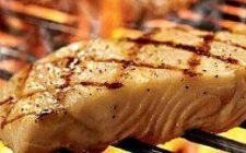 Vis op barbecue. Besteld bij Catering Service Twente.